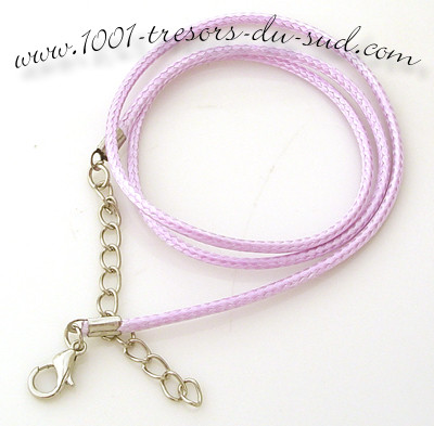 collier • cotton ciré • 50 cm • mauve clair