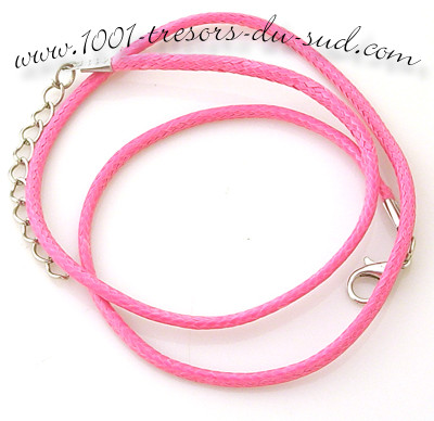 collier • cotton ciré • 50 cm • rose