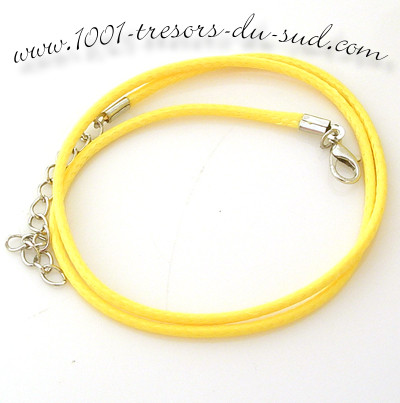 collier • cotton ciré • 50 cm • jaune