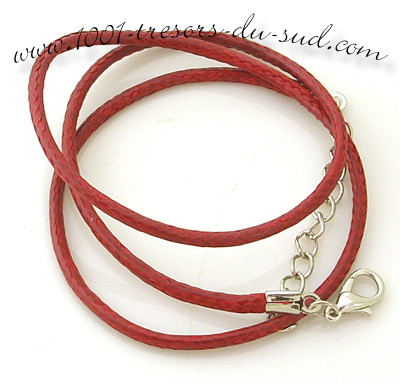 collier • cotton ciré • 50 cm • rouge bordeaux