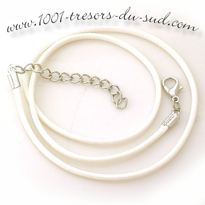 collier • cotton ciré • 50 cm • blanc