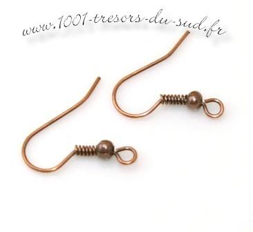 boucle d'oreille cuivre