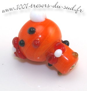 ours • 1 PERLE verre • LAMPWORK • 22,5 mm