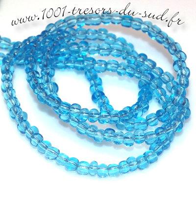 rocailles perles verre bleu aqua 4 mm 15 g. Black Bedroom Furniture Sets. Home Design Ideas