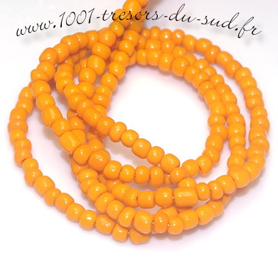 rocailles • PERLES verre • orange • 4 mm • 15 g